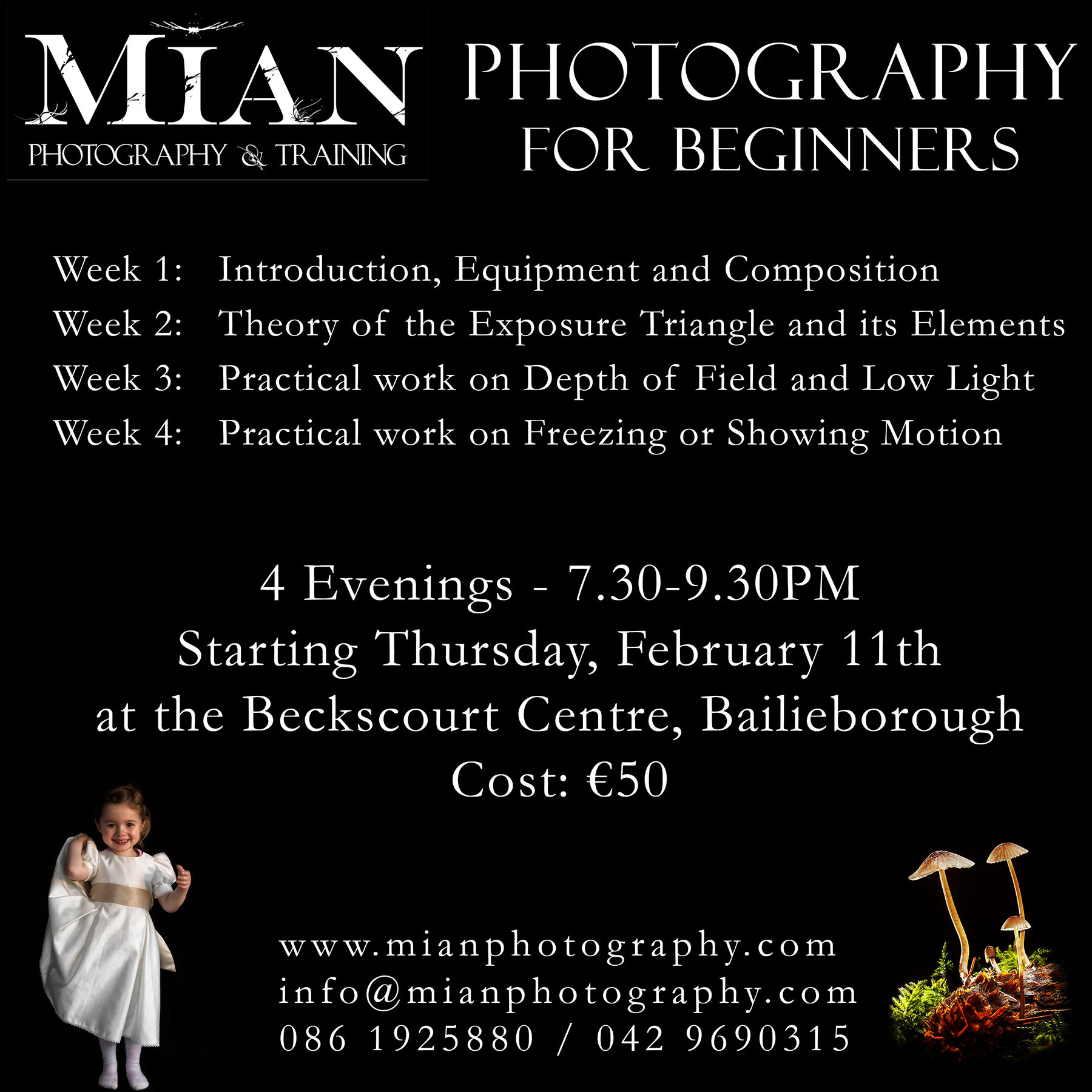 Beginners Photography Course Lessons Bailieborough