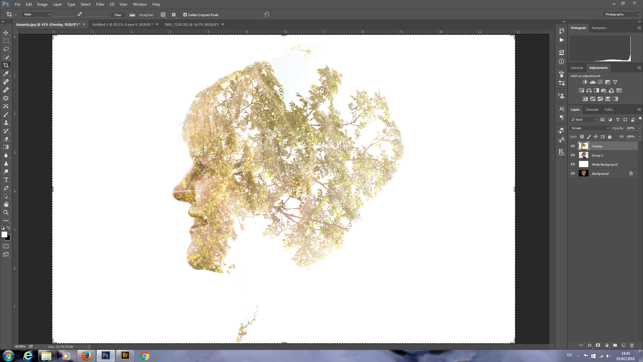 Double Exposure Photoshop Basic Tutorial
