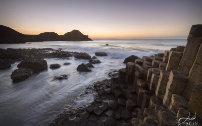 Giant's Causeway Northern Ireland Sunset County Antrim