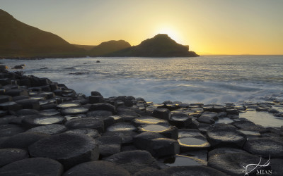 Giant's Causeway Sunset County Antrim Northern Ireland