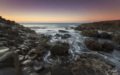 Giant's Causeway Whirlpool Northern Ireland Antrim Sunset