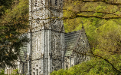 Gothic Church Connemara Kylemore Galway Ireland