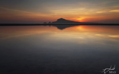 Ireland's Eye Sunrise Reflections Portmarnock Beach Dublin