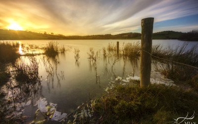 Lough Nagarnaman County Monaghan Ireland Sunset
