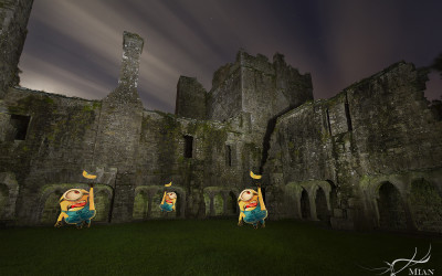 Minions at Night Bective Abbey County Meath Boyne Valley Ireland