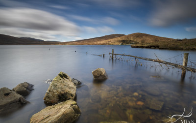 Spelga Dam Reservoir County Down Northern Ireland in the Mourne Mountains Long Exposure
