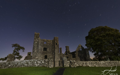 Star Trails Bective Abbey at Night Navan Meath Ireland