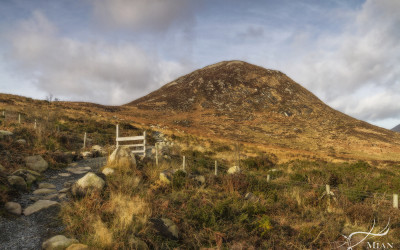 Stile Mourne Mountains County Down Northern Ireland Golden hour