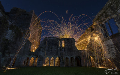 Wire Wool Spinning Bective Abbey County Meath Boyne Valley History Night Ireland