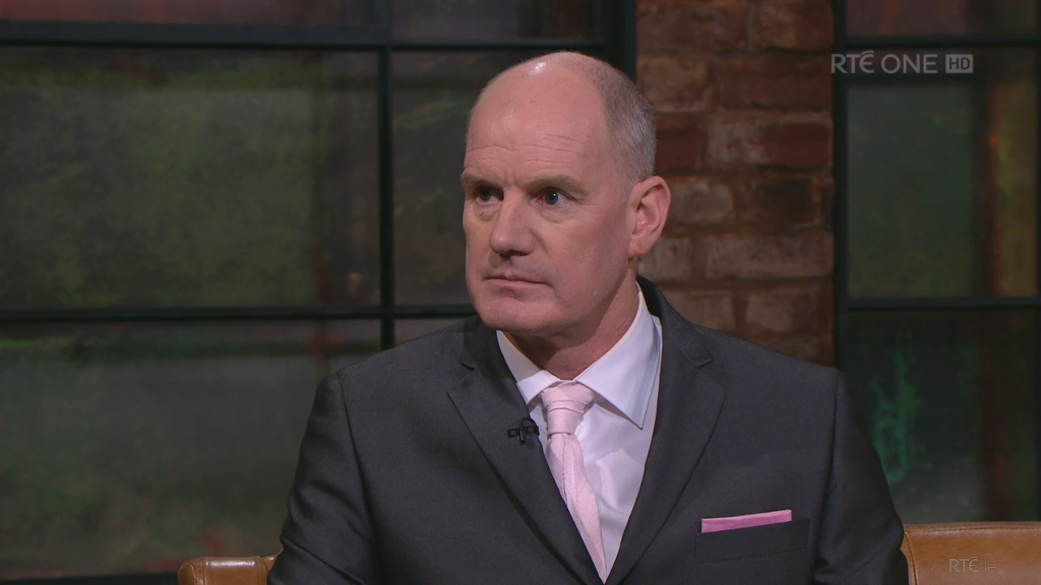 Jimmy Norman of Aoibheann's Pink Tie on the RTE Late Late Show